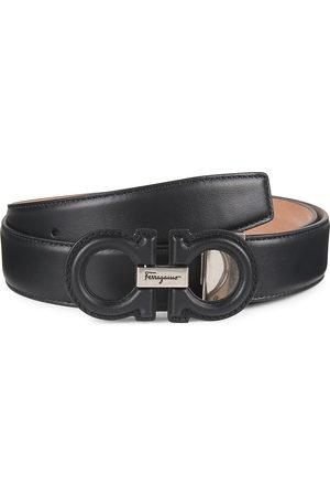 Salvatore Ferragamo Men Belts - Adjustable Double Buckle Leather Belt