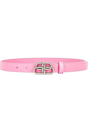 Balenciaga BB Extra Thin Belt in Rose