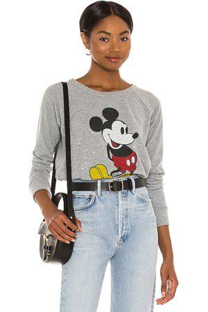 Chaser Classic Mickey Sweatshirt in Grey.