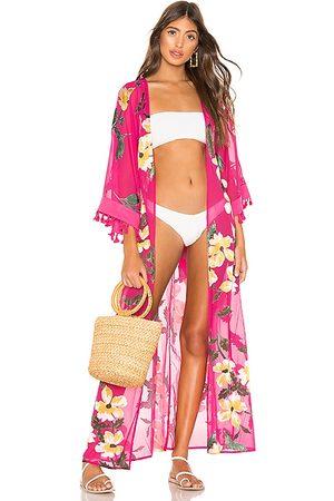 lovewave Hallie Maxi Robe in Pink.