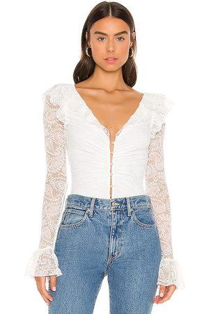 MAJORELLE Valentina Bodysuit in Ivory.