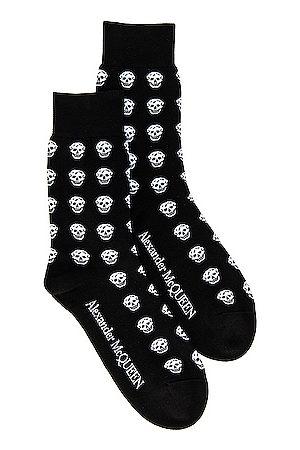 Alexander McQueen Short Skull Socks in