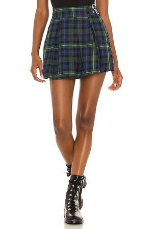 superdown Women Mini Skirts - Evy Pleated Buckle Skirt in .