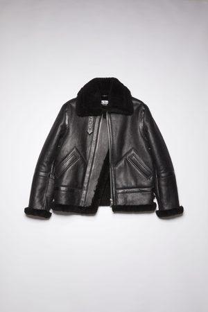 Acne Studios FN-MN-LEAT000112 Shearling aviator jacket