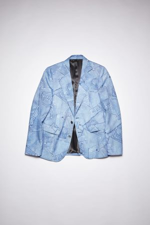 Acne Studios FN-MN-SUIT000210 Denim print jacket