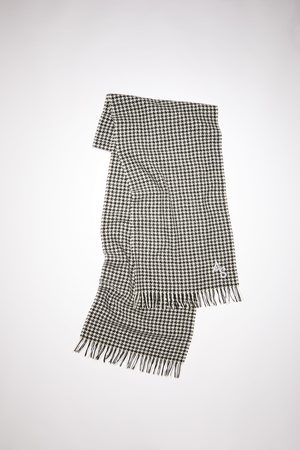 Acne Studios FN-UX-SCAR000161 /white Houndstooth scarf