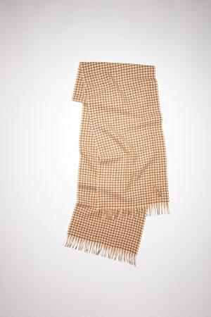 Acne Studios FN-UX-SCAR000161 /brown Houndstooth scarf
