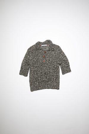 Acne Studios FN-WN-KNIT000389 /white Open-knit polo shirt
