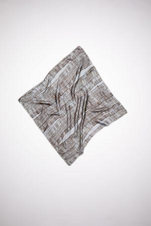 Acne Studios FN-UX-SCAR000174 /brown Light silk logo scarf
