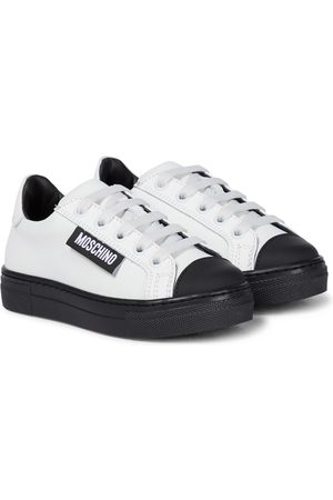 Moschino Leather platform sneakers