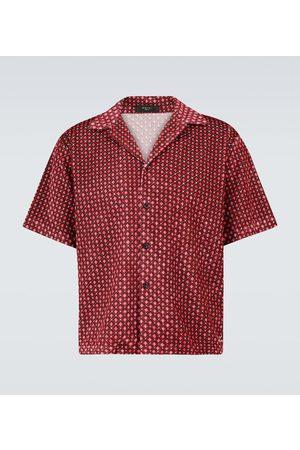 AMIRI Retro velour short-sleeved shirt