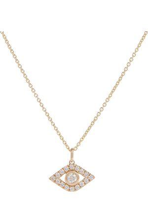 Sydney Evan Evil Eye 14kt yellow necklace with diamonds