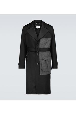 Maison Margiela Bi-fabric wool trench coat