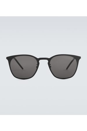 Saint Laurent Men Square - Square-frame metal sunglasses