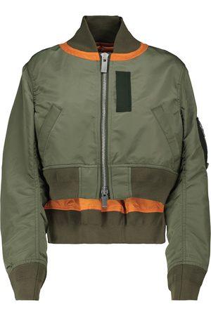 SACAI Cropped bomber jacket