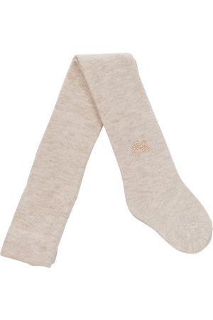 Tartine Et Chocolat Metallic-knit tights