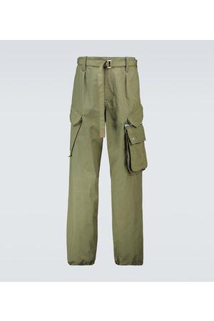 SACAI Cotton and nylon-blend cargo pants