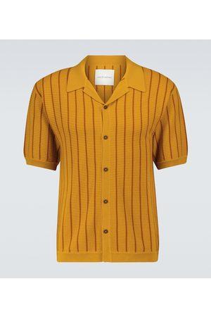 King & Tuckfield Men Short sleeves - Short-sleeved merino wool cardigan