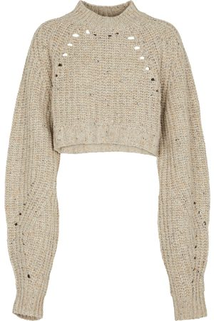 SIR Seville cropped wool-blend sweater