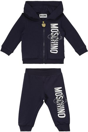 Moschino Baby stretch-cotton hoodie and sweatpants set