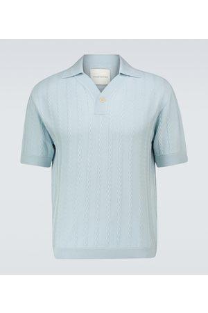 King & Tuckfield Merino short-sleeved polo shirt
