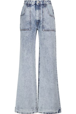 Alessandra Rich High-rise wide-leg jeans