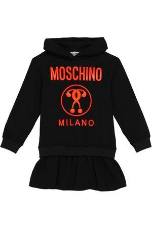 Moschino Logo stretch-cotton sweatshirt dress