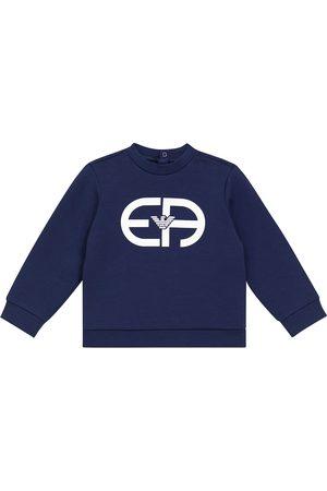 Emporio Armani Baby stretch cotton-blend sweatshirt