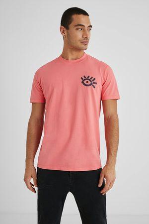 Desigual Men Short Sleeve - 100% cotton arty T-shirt