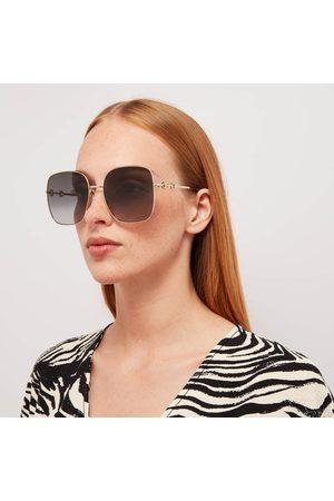 Gucci Women's Horsebit Metal Frame Sunglasses