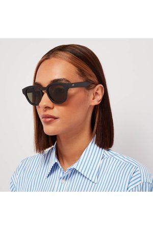 Le Specs Women's Grass Band Round Sunglasses