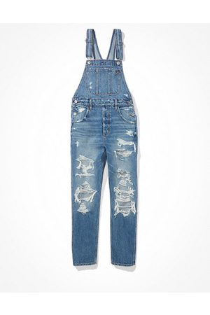 American Eagle Outfitters Ripped 90s Boyfriend Denim Overall Women's XS