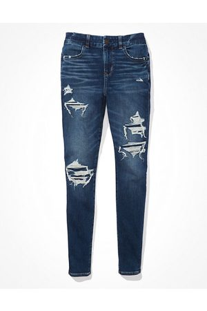 American Eagle Outfitters Next Level Patched Curvy Jegging Women's 4 Regular