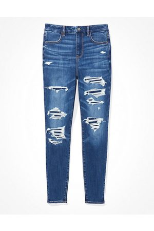 American Eagle Outfitters Next Level Patched Curvy Super High-Waisted Jegging Women's 4 Regular