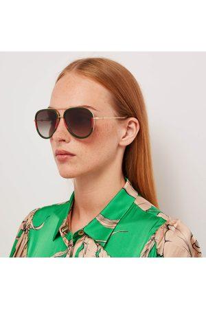 Gucci Women Aviators - Women's Metal Aviator Sunglasses