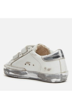 Golden Goose Toddlers' Leather Upper and Stripes Glitter Star Laminated Heel Sparkle Foxing Trainers