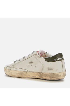 Golden Goose Platform Sneakers - Kids' Leather Upper And Heel Print Star Signature Foxing Trainers