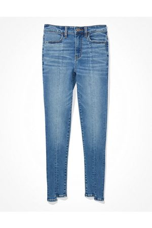 American Eagle Outfitters Next Level Ripped High-Waisted Jegging Women's 2 Long