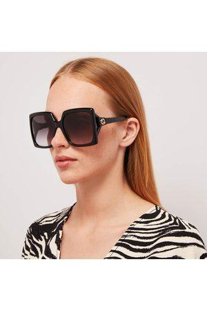 Gucci Women's 70's Fork Square Frame Sunglasses