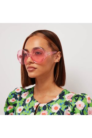 Gucci Women's Oversized Round Sunglasses