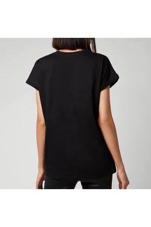 Balmain Women's Short Sleeve Strass Logo T-Shirt