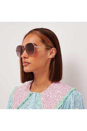 Chloé Women Round - Women's Aimée Round Metal Sunglasses