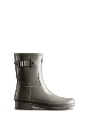 Hunter Women Rain Boots - Women's Refined Slim Fit Short Gloss Rain Boots