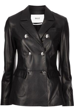 Bally Women Blazers - Double-breasted leather blazer