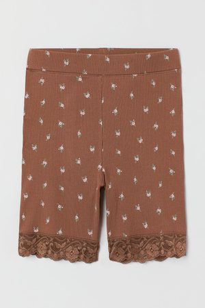 H&M Women Shorts - Lace-trimmed Bike Shorts