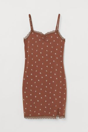 H&M Lace-trimmed Slip-style Dress