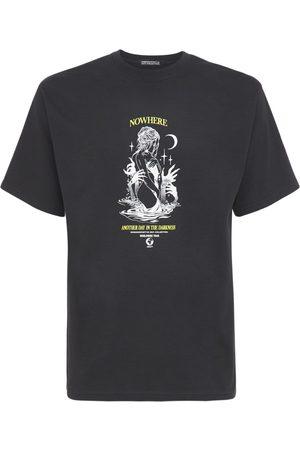 HUMAN SOCIETY Men T-shirts - Printed Dark Tour Cotton T-shirt