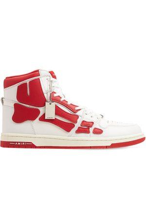 AMIRI Men Sneakers - Bones High-top Leather Sneakers