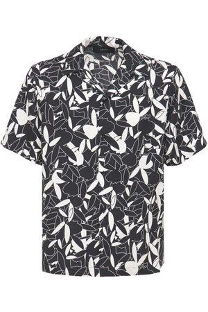 AMIRI Men Shirts - Playboy Allover Print Silk Twill Shirt