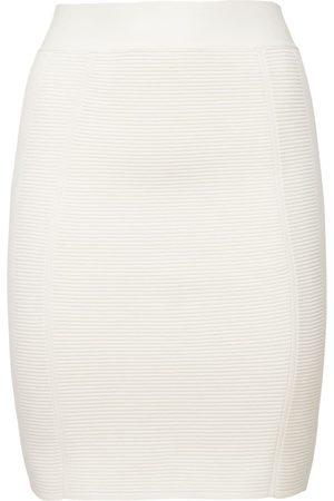 Hervé Léger Sheer Ribbed Mini Skirt